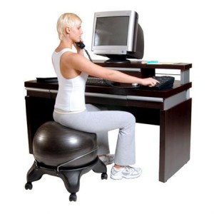 drop the excuses with the yoga exercise ball chair