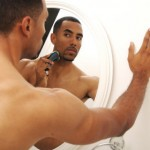 black-man-electric-shaver